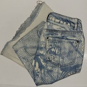 Free People Discharged Bali Flare Jeans Size 24